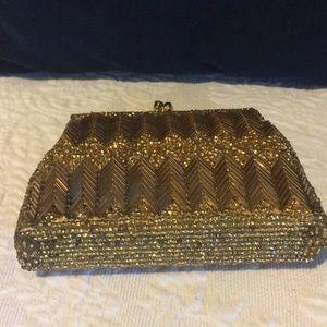 Vintage Bags - Vintage Mini Glass Beaded Wrist Purse